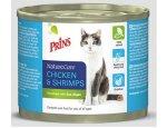 PRINS cat konz. CHICKEN/shrimps 200g, zboží skladem