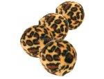 HRAČKA míčky s leopardím motivem 4ks/4cm, zboží skladem