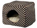 Pelíšek KUKAŇ MINA hnědo-béžový  40x32x40cm