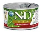N&D dog PRIME konz. PUPPY MINI chicken/pomegranate  140g