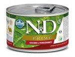 Konzervy pro psy N&D dog PRIME konz. ADULT MINI chicken/pomegranate 140g, zboží skladem