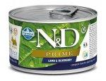 N&D dog PRIME konz. ADULT MINI lamb/blueberry  140g