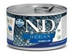 Konzervy pro psy N&D dog OCEAN konz. ADULT MINI salmon/codfish 140g, zboží skladem