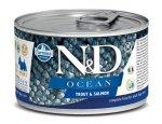 Konzervy pro psy N&D dog OCEAN konz. ADULT MINI trout/salmon 140g, zboží skladem