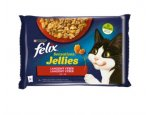 FELIX Sensations Jellies - LAHODNÝ výběr v želé - hovězí, kuře 4 x 85g