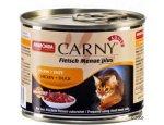 ANIMONDA cat konzerva CARNY hovězí/kuře/kachní srdce 200g
