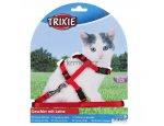 Postroj (trixie) CAT pro koťata s vodítkem 8mm/19-31cm/1,2m